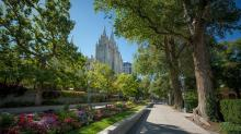 "This view of Temple Square in downtown Salt Lake City is part of the PBS special ""10 Towns That Changed America,"" now on DVD. (Deseret Photo)"