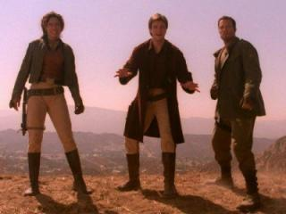 """Gina Torres, Nathan Fillion and Adam Baldwin in """"Firefly."""" (Deseret Photo)"""