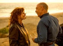"Susan Sarandon, left, as Marnie Minervini and J.K. Simmons as Zipper in ""The Meddler.""3 (Deseret Photo)"