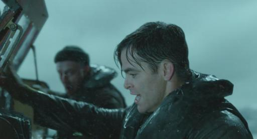 "Chris Pine, right, mans a rescue boat that heads out to sea during a treacherous storm in ""The Finest Hours,"" which is now on Blu-ray and DVD. (Deseret Photo)"