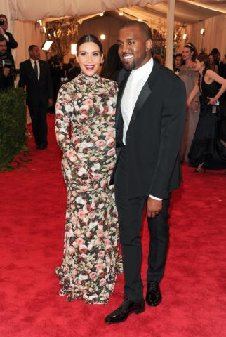 Kim Kardashian and Kanye West attend The Metropolitan Museum of Art Costume Institute gala benefit in New York in May 2013. (Deseret Photo)