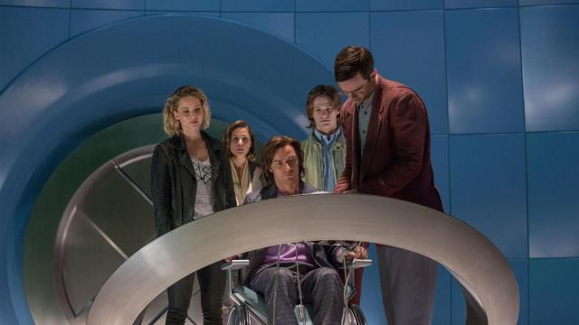 "Jennifer Lawrence, left, as Raven/Mystique, Rose Byrne as Moira MacTaggert, James McAvoy as Charles/Professor X, Lucas Till as Alex Summers/Havok and Nicholas Hoult as Hank McCoy/Beast star in ""X-Men: Apocalypse."" (Deseret Photo)"