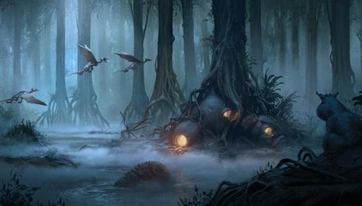 The book contains detailed profiles on planets important to the history of the Jedi and the Force, such as the planet of Dagobah. (Deseret Photo)
