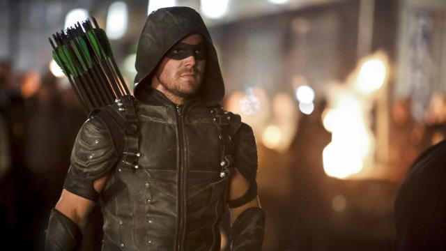 "Stephen Amell as Green Arrow/Oliver Queen in CW's ""Arrow."" (Deseret Photo)"