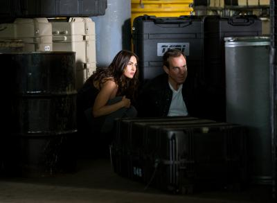 """Megan Fox, left, as April O'Neil and Will Arnett plays Vernon Fenwick in """"Teenage Mutant Ninja Turtles: Out of the Shadows."""" (Deseret Photo)"""