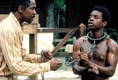 "Louis Gossett Jr., left, and LeVar Burton star in the original ""Roots."" The landmark 1977 TV miniseries is now on Blu-ray for the first time. (Deseret Photo)"