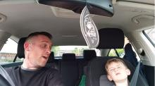 IMAGE: Have You Seen This? Dad and son belt out Sinatra in the car