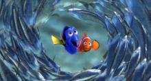 """Dory (voiced by Ellen DeGeneres), left, and Marlin (Albert Brooks) in Disney/Pixar's """"Finding Nemo."""" (Deseret Photo)"""