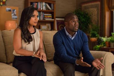 "Danielle Nicolet as Maggie and Kevin Hart as Calvin in ""Central Intelligence."" (Deseret Photo)"