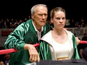 """Clint Eastwood stars as Frankie and Hilary Swank as Maggie in the Warner Bros. drama """"Million Dollar Baby."""" (Deseret Photo)"""