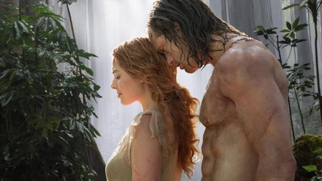 "Margot Robbie as Jane and Alexander Skarsgard as Tarzan in Warner Bros. Pictures' and Village Roadshow Pictures' action adventure ""The Legend of Tarzan."" (Deseret Photo)"