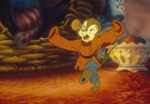 "A happy Fievel gets ready to celebrate the holiday season before his family leaves for a new life in America in ""An American Tail."" (Deseret Photo)"