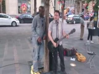 Singing star Seal saw a man busking up in Montreal and decided he'd join in on the fun. (Deseret Photo)