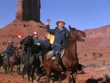 "John Wayne leads the troops before the glorious backdrop of Monument Valley in ""She Wore a Yellow Ribbon"" (1949), now on Blu-ray for the first time. (Deseret Photo)"