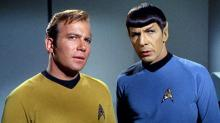 "William Shatner and Leonard Nimoy in ""Star Trek."" (Deseret Photo)"