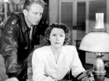"""Ghostly Spencer Tracy tries to help Irene Dunne move on with her life in the 1943 wartime fantasy """"A Guy Named Joe."""" (Deseret Photo)"""