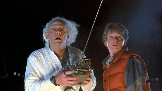"Doc Brown (Christopher Lloyd), left, and Mary McFly (Michael J. Fox) prepare to go ""Back to the Future"" (1985). It's one of several films new to Netflix. (Deseret Photo)"