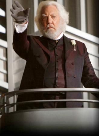 "Donald Sutherland, a big star in the 1970s and '80s, is now best known to younger moviegoers as President Snow in the ""Hunger Games"" movies. (Deseret Photo)"
