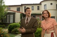 """Bobby (Jesse Eisenberg) and Vonnie (Kristen Stewart) in """"Cafe Society."""" (Deseret Photo)"""