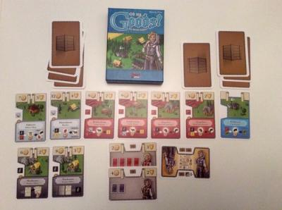 A look at how the cards from Oh My Goods look like on the table. (Deseret Photo)