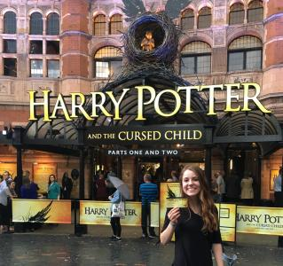 "Abigail Bennett scores a ticket to the London production of ""Harry Potter and the Cursed Child, Parts One and Two."" (Deseret Photo)"