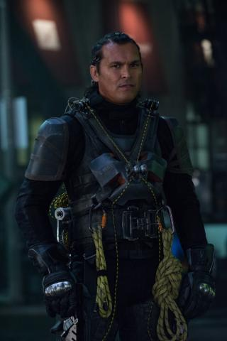 "Adam Beach as Slipknot in ""Suicide Squad."" (Deseret Photo)"