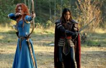 "Merida (Amy Manson) and Mulan (Jamie Chung) prepare their bows in the fifth season of ""Once Upon a Time,"" now on Blu-ray and DVD. (Deseret Photo)"