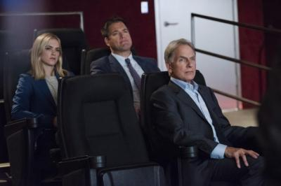 "From left, Emily Wickersham, Michael Weatherly and Mark Harmon star in the 13th season of the popular military-crime drama ""NCIS,"" now on DVD. (Deseret Photo)"