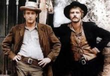 "Paul Newman, left, and Robert Redford starred as ""Butch Cassidy and the Sundance Kid"" (1969) in the film that pushed Redford into A-list, bankable movie-star status. (Deseret Photo)"