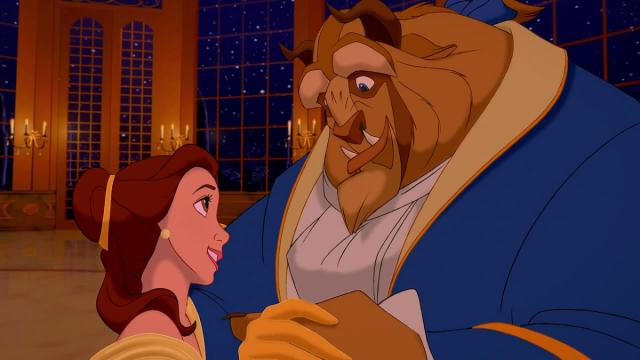 "Belle and the Beast dance in the iconic ballroom scene in ""Beauty and the Beast"" (1991), Disney's beloved animated musical, now available in a new Blu-ray edition. (Deseret Photo)"