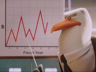 """Junior (voice of Andy Samberg) and Hunter (voice of Kelsey Grammer) in """"Storks."""" (Deseret Photo)"""