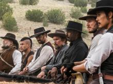 "From left, Vincent D'Onofrio, Martin Sensmeier, Manuel Garcia-Rulfo, Ethan Hawke, Denzel Washington, Chris Pratt and Byung-hun Lee star in Columbia Pictures' ""The Magnificent Seven."" (Deseret Photo)"