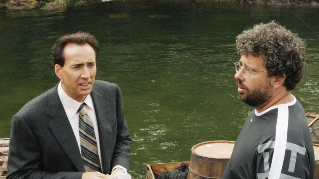 Nicolas Cage and Neil LaBute in The Wicker Man (2006) (Deseret Photo)