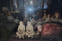 "The twins (Thomas and Joseph Odwell), seated on the floor, Fiona (Georgia Pemberton) and Hugh (Milo Parker); left to right: Emma (Ella Purnell), Jake (Asa Butterfield), Horace (Hayden Keeler-Stone), Miss Peregrine (Eva Green), Enoch (Finlay Macmillan), Claire (Raffiella Chapman), Bronwyn (Pixie Davies) and Olive (Lauren McCrostie) are the very special residents of  ""Miss Peregrine's Home for Peculiar Children."" (Deseret Photo)"