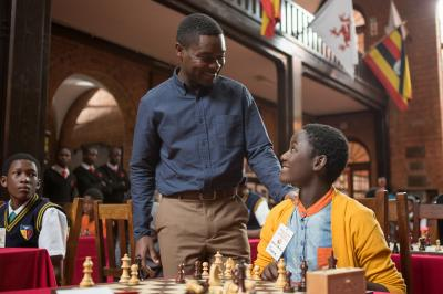 David Oyelowo is Robert Katende and Madina Nalwanga is Phiona Mutesi in in Disney's QUEEN OF KATWE, based on a true story of a young girl from the streets of rural Uganda whose world rapidly changes when she is introduced to the game of chess. Oscar (TM) winner Lupita Nyong'o also stars in the film, directed by Mira Nair. (Deseret Photo)