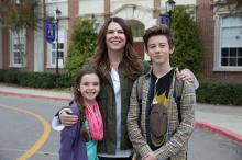 """Alexa Nisenson, left, Lauren Graham and Griffin Gluck in """"Middle School: The Worst Years of My Life."""" (Deseret Photo)"""
