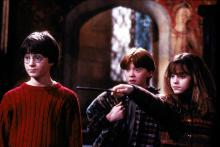 "From left, Harry Potter (Daniel Radcliffe), Ron Weasley (Rupert Grint) and Hermione Grainger (Emma Watson) in ""Harry Potter and the Sorcerer's Stone."" (Deseret Photo)"