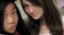 Audrie Pott, right, is shown in an undated selfie with her friend Amanda Lee, left. (Deseret Photo)