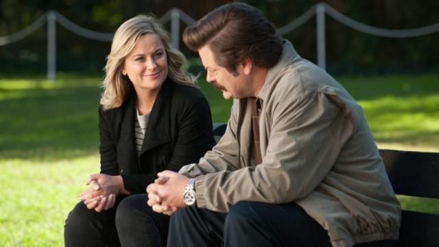 Nick Offerman and Amy Poehler in Parks and Recreation (2009) (Deseret Photo)