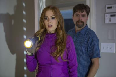 "Jeff Gaffney (Zach Galifianakis) and his wife, Karen (Isla Fisher), investigate the shocking secrets of their new neighbors, the Joneses in ""Keeping Up With the Joneses."" (Deseret Photo)"