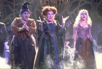 "In ""Hocus Pocus,"" the Sanderson sisters are 17th century witches, conjured by unsuspecting pranksters in present-day Salem. The key to their immortality involves three children and a talking cat, who also turn out to be their biggest obstacles. (Deseret Photo)"