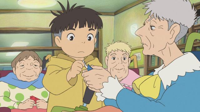 "From left, Noriko, Sosuke, Yoshie, Toki in ""Ponyo."" (Deseret Photo)"