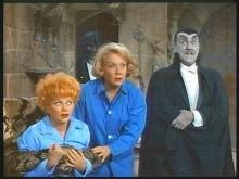 "Lucille Ball, left, and Vivian Vance are frightened by Gale Gordon (dressed as Dracula for a fantasy sequence) as they star in ""The Lucy Show."" The complete series is now on DVD. (Deseret Photo)"