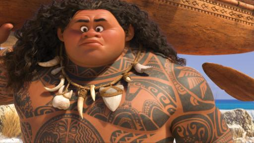 Maui (voice of Dwayne Johnson) may be a demigod — half god, half mortal, all awesome — but he's no match for Moana (voice of Auli'i Cravalho), who's determined to sail out on a daring mission to save her people. (Deseret Photo)