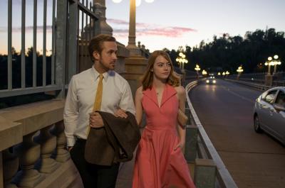 "Sebastian (Ryan Gosling) and Mia (Emma Stone) in ""La La Land."" (Deseret Photo)"