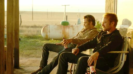 "Chris Pine, left, and Ben Foster are desperate ranchers who turn to bank robbery in ""Hell or High Water,"" now on Blu-ray and DVD. (Deseret Photo)"
