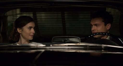 "Small town beauty queen and aspiring actress Marla Mabrey (Lily Collins) finds herself attracted to her personal driver Frank Forbes (Alden Ehrenreich), even though it defies their employer Howard Hughes' No. 1 rule: No employee is allowed to have an intimate relationship with a contract actress in ""Rules Don't Apply."" (Deseret Photo)"