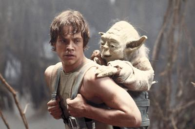 """Mark Hamill as Luke Skywalker and the character Yoda appear in this scene from """"Star Wars Episode V: The Empire Strikes Back,"""" the film students perform a musical parody of in """"Jedi Junior High."""" (Deseret Photo)"""