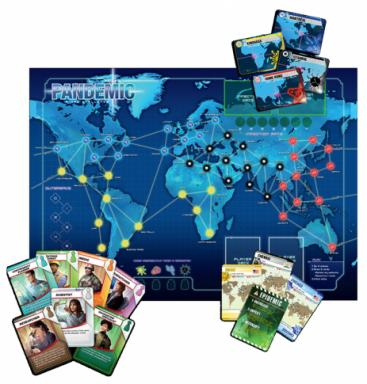 A look at the board and components for Pandemic. Viruses break out across the world and players work in unique roles to eradicate the viruses before things get out of control. All the components are of excellent quality. (Deseret Photo)