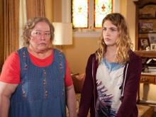 """Kathy Bates, left, and Sophie Nélisse star in the family drama """"The Great Gilly Hopkins,"""" now on DVD. (Deseret Photo)"""